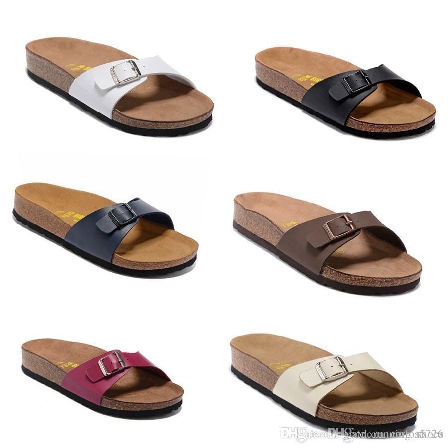 034e18386fe Arizona Hot Summer Men S Sandals Flat Shoes Cork Slippers Single Sex Casual  Shoes