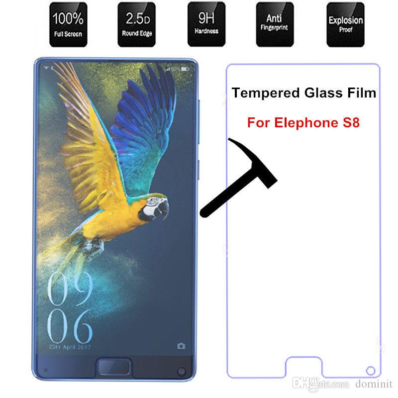 Elephone S8 Screen Protector 9H 2.5D Ultrathin Tempered Glass For new iPhone XS Max XR XS Samsung J4 J7 J8 S6