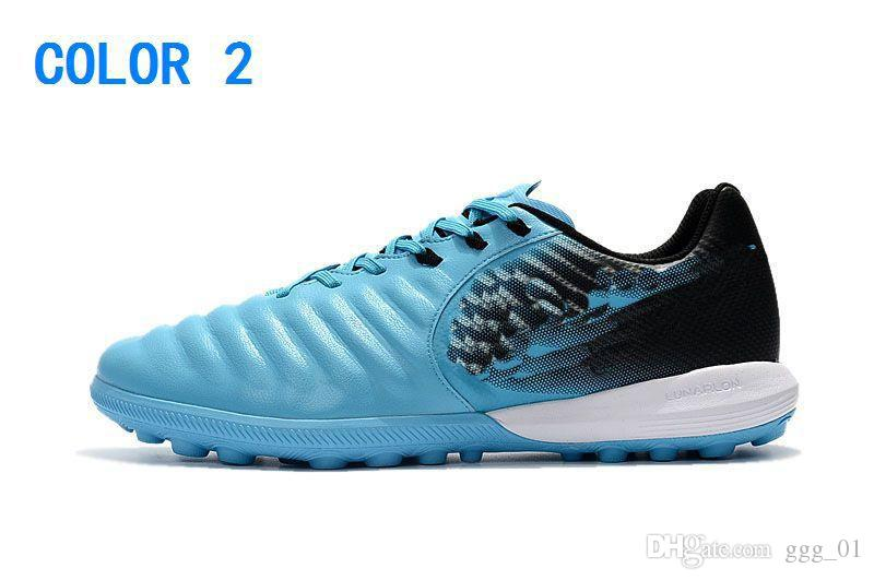 New Cheap Fashion Black Red Soccer Cleats Tiempo Legend VII TF Indoor Soccer Shoes Low Tiempo Ligera TF Turf Mens Football Boots Shoes