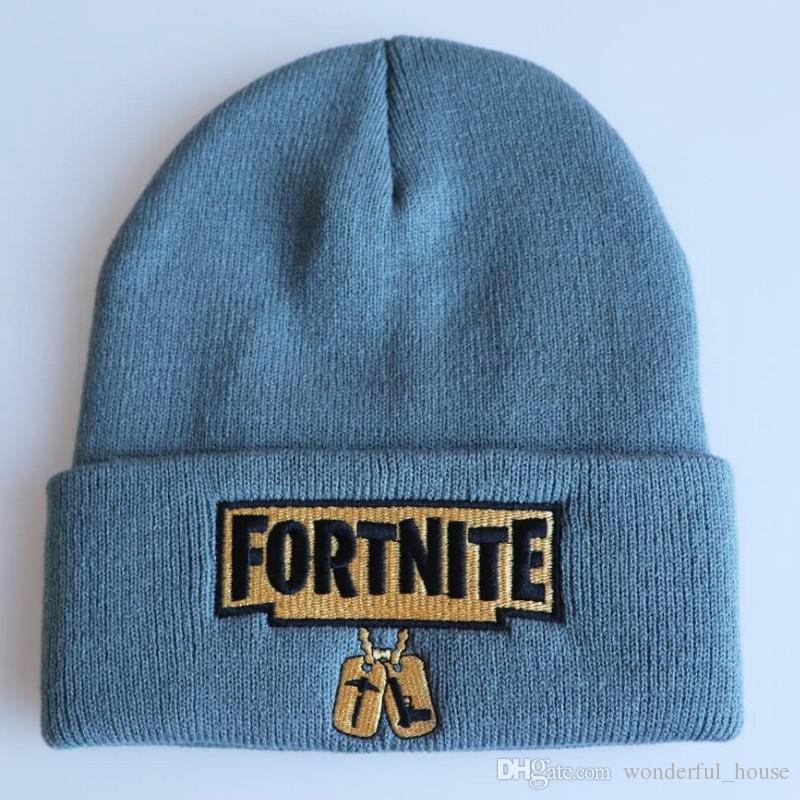 Hat Designs | Fortnite Battle Knitted Hat 18 Designs Hip Hop Cartoon Embroidery