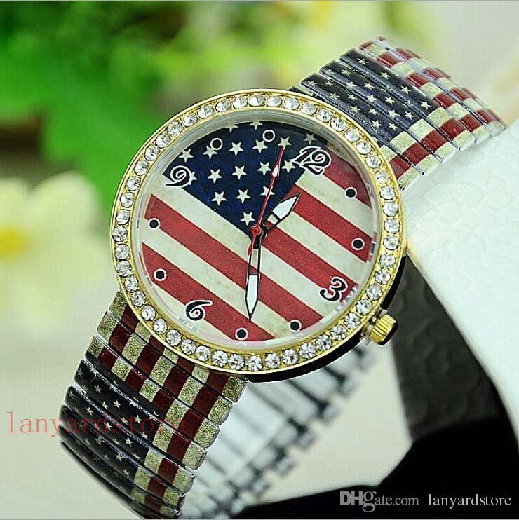 American flag fashionable fashion series series belt belt watch Marilyn Monroe wrist watch Lovers Watch Best gift