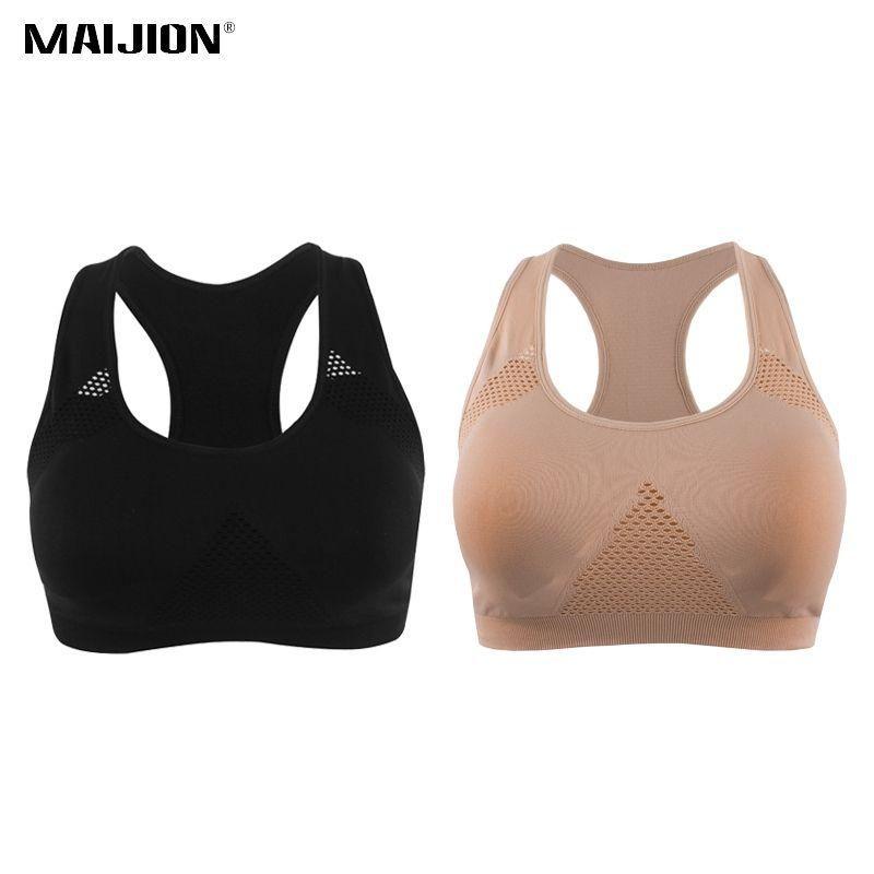 6e89a3e8cc 2019 MAIJION Women Shockproof Plus Size Yoga Sport Bra