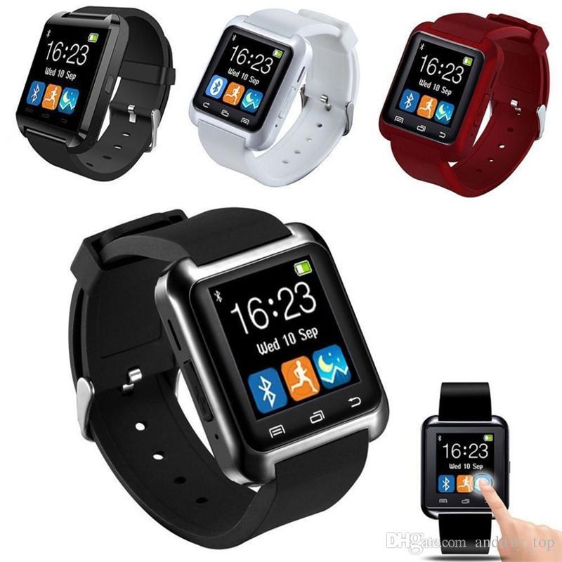 8d8a9a7967e Compre 2018 Bluetooth Smartwatch U8 U Relógio Inteligente Relógio De Pulso  Relógios Para Iphone 4 4s 5 5s Samsung S7 Htc Android Telefone Smartphone  De ...
