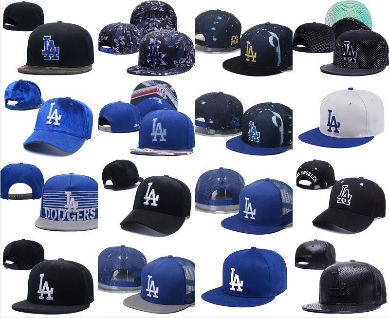 Wholesale Top Quality LA Snapback Hats Gorras Embroidered LA Letter Team  Logo Brands Hip Hop Cheap Sports Baseball Adjustable Caps Bones The Game  Hats Baby ... c3cbedf5aaa