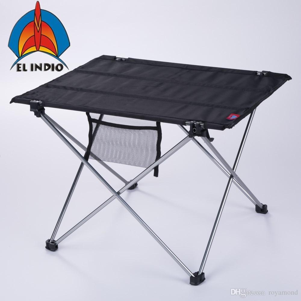 Tavolo Campeggio Alluminio Avvolgibile.Acquista El Indio Tavolo Pieghevole Portatile Ultraleggero Tavoli