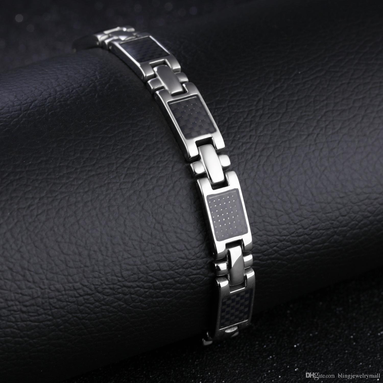 e6e99f9404fdf Magnetische armband perlen hämatit stein therapie gesundheitswesen  edelstahl titanium stahl magnet armbänder männer schmuck gs3356