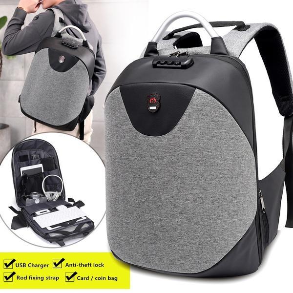8b3b5c38eb ARCTIC HUNTER School Backpacks 15.6 Laptop Backpack Men Waterproof Mochila  Casual Travel USB Charge Back Pack Male Bag Gift Leather Rucksack Fashion  Bags ...