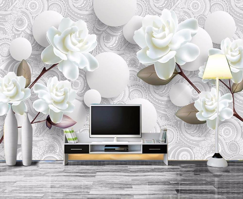 European Luxury 3d Wallpaper Mural Photo Flower Brief 3d Wallpaper ...