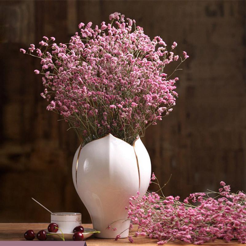 Compre Flores Secas Hierba De Cristal Natural Ramo Flores
