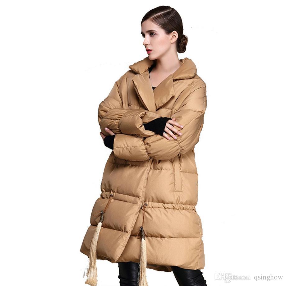 Qualité Blanc Duvet Haute De Acheter Manteau Revers Femmes qaT75UFw