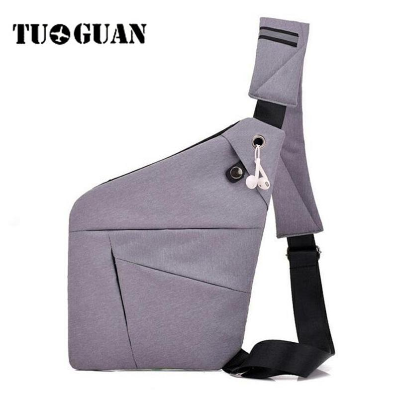 TUGUAN Crossbody Bags For Men Hidden Anti Theft Chest Bag Canvas Casual  Messenger Bag Sling Pack Male Travel Small Shoulder Bags Bags For Women  Cheap ... dd690deac3535