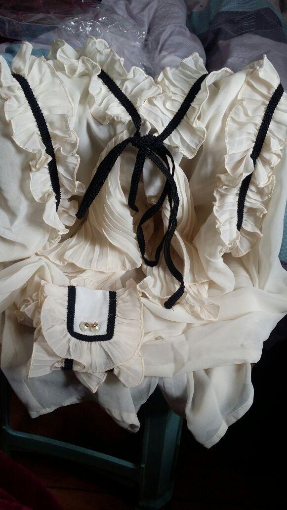 High Quality New Fashion 2018 Runway Designer Blouse Shirt Women's Vintage Ruffles Bow Long Sleeve XL Chiffon Shirt