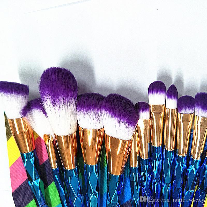 Preço de fábrica Profissional Maquiagem escova Cosméticos Facial Pincel de Maquiagem Ferramentas rosto e olhos Pincéis de Maquiagem Conjunto Kit Com Caixa De Varejo