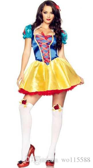 572fdffac9f 2019 New Sexy Lingerie Cosplay Female Fairy Tale Snow White Halloween Party  Role Playing Anime Europe And America Game Uniforms From Wo115588