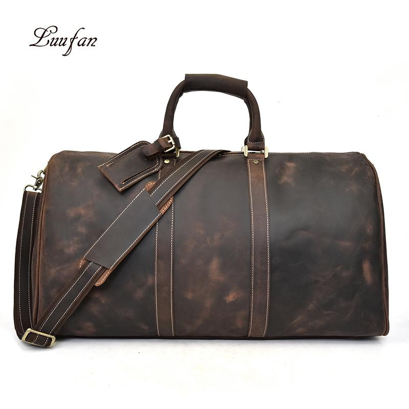38b9cf409d Luufan Travel Bag Large Capacity Men S Unisex Business Trip Travel Weekend  Vintage Fit For 17  PC Clothes Books Durable Large Duffel Bags Cheap Duffle  Bags ...