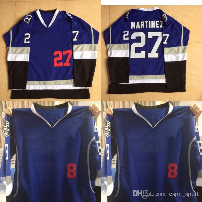 free shipping cde43 803f2 Cheap Mens #27 Alec Martinez 8 Drew Doughty Los Angeles Kings Blue Limited  Hockey Jersey 100% Stitched LA Hockey Jerseys Hot sale