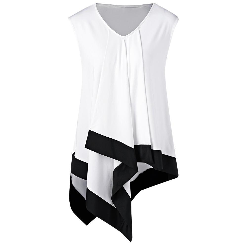 4a2e653859fc Wipalo Plus Size Asymmetrical Longline V Neck Patchwork T Shirt Women T  Shirt Long Sleeve Casual Tshirts Big Size Ladies Tops Crazy Shirt Designs A  Shirt A ...