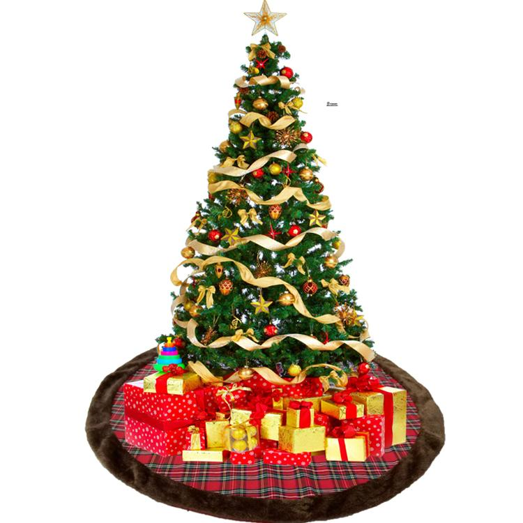 48 inch plaid christmas tree skirt christmas decoration scene match decoration of shopping malls hotels festive party supplies buying christmas