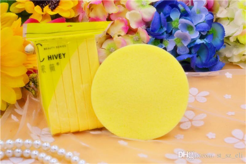 =1 Soft Compressed Sponge Face Cleaning Sponge Facial Wash Cleaning Pad Exfoliator Cosmetic Puff Face Cleaning Puff