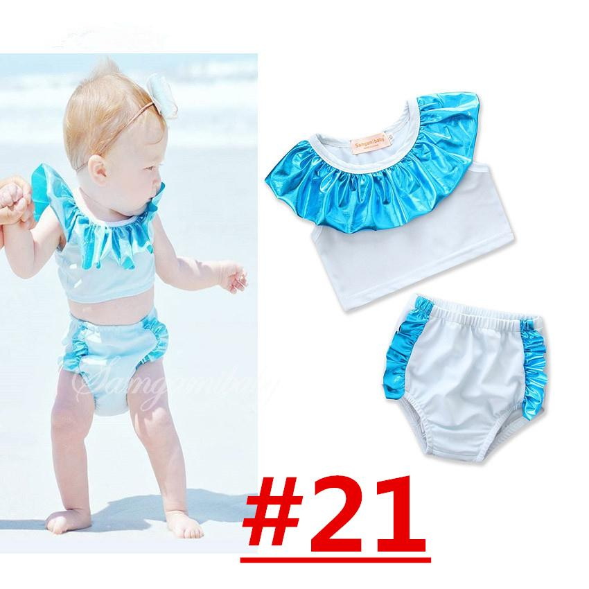 Unicorn Girls Floral Swimwear Halter Rompers Swimsuit Childrens Clothing Two-Pieces Bikinis Beach Bathing Suit One-Pieces LC737