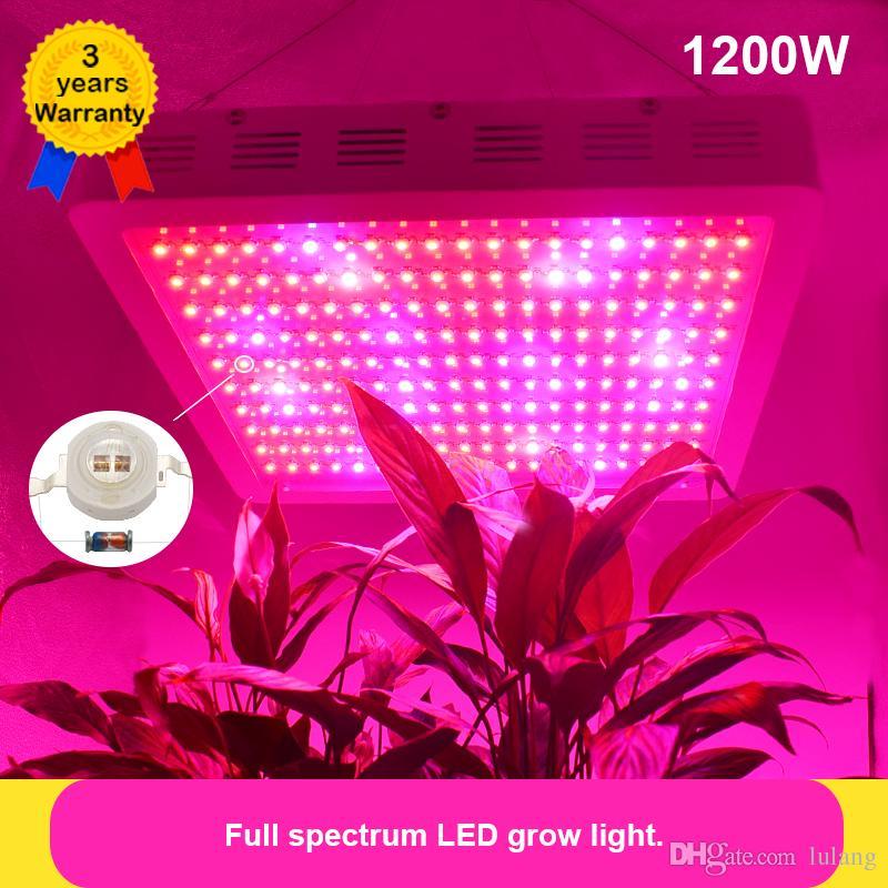 1200W LED Grow Light Full Spectrum 380-840nm Red/Blue/White/Orange/UV/IR  epileds 48mil dual chips Plant Grow Light Lights Lamp for indoo