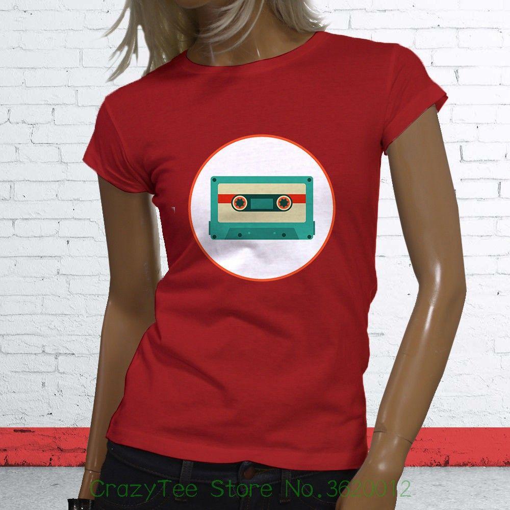 0992c493b7 Großhandel Damen T Shirt Orange Kassette Klassisch Old School Vintage Damen  Rot T Shirt Print Damen Streetwear T Shirt Von Crazyteestore, $23.95 Auf De.