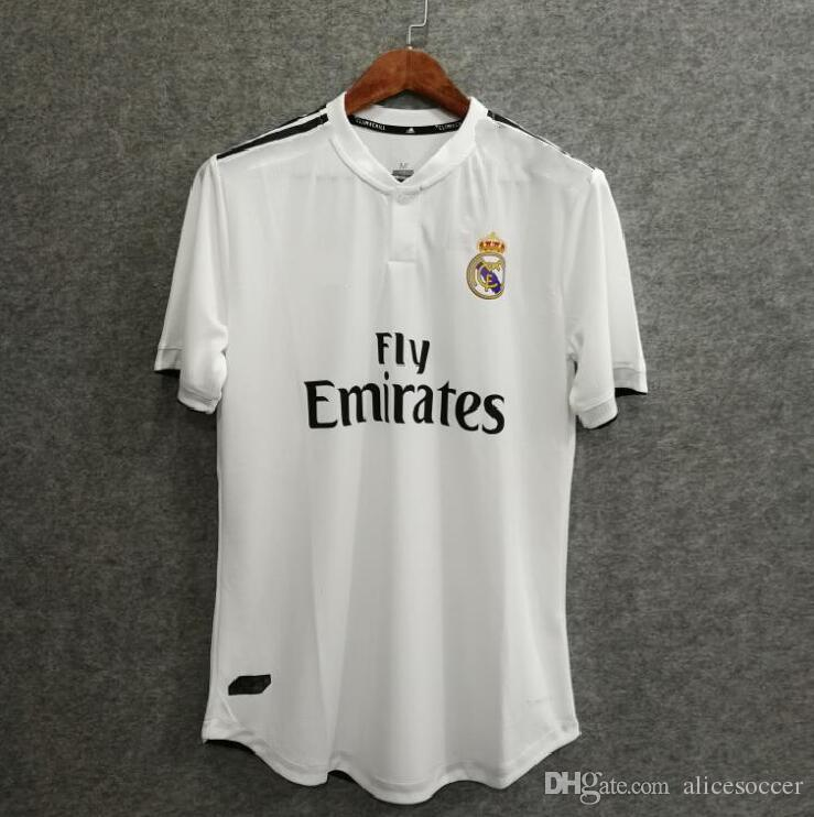 d72bd9768cc _^ Wholesales 18/19 Real Madrid Home Player Version Soccer Jersey ...