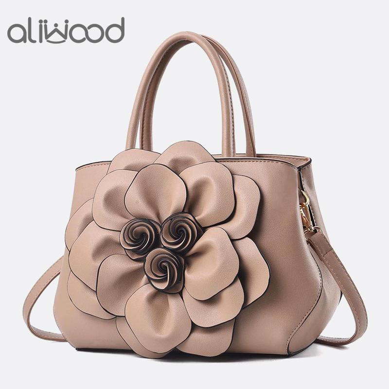 Aliwood Fashion Women S Bag Rose Flower Handbags Ladies Shoulder Bags High  Quality Female PU Leather Crossbody Bags Tote Bolsas Satchel Handbags  Ladies ...