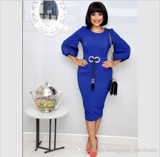 Acheter 2019 African Riche Femmes Robe Motif Imprimé Manches Longues Rouge  Vert Bleu Vêtements Senior Africain Robe Marque Vêtements De  24.43 Du ... de3e99cbfdd1
