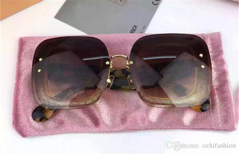 98eca532b9b5 New Fashion Women Brand Designer Sunglass SMU01R Square Sunglass ...