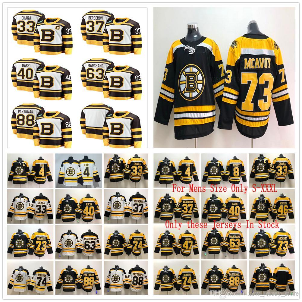 8121335a284 Acquista 2019 Winter Classic Boston Bruins 33 Zdeno Chara Jerseys Hockey Su  Ghiaccio Patrice Bergeron Brad Marchand Tuukka Rask David Pastrnak DeBrusk  ...