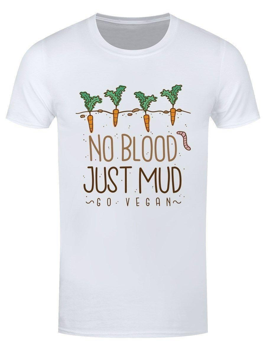 ceae26259186 Herren T Shirt No Blood Just Mud Vegan Short Sleeve Round Neck T Shirt  Promotion O Neck Tops Tee Shirts Solid Color Plus Size Men T Shirts Geek T  Shirts ...