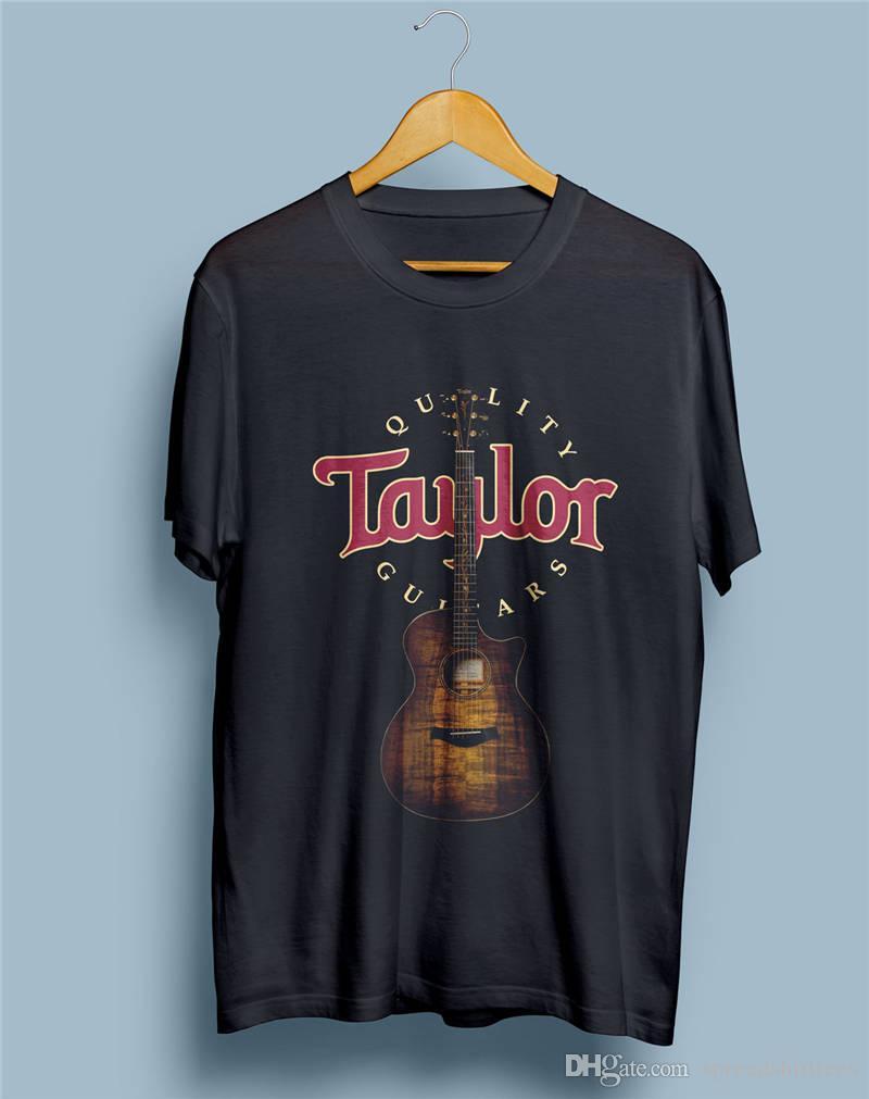 83463e4802b Compre El Más Nuevo 2018 Moda Cosas Extrañas Camiseta O Cuello De Algodón  De Manga Corta Taylor Guitar Logo Camisas De Encargo Para Hombres A $11.16  Del ...