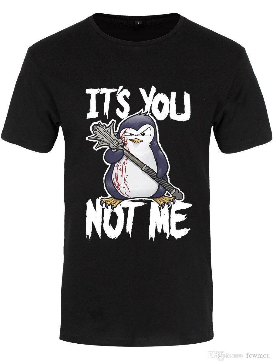 Compre Top Teeo Penguin Camiseta Negra Para Hombre It s You Not Me A  10.8  Del Fcwmcu  b43cc95cc63af