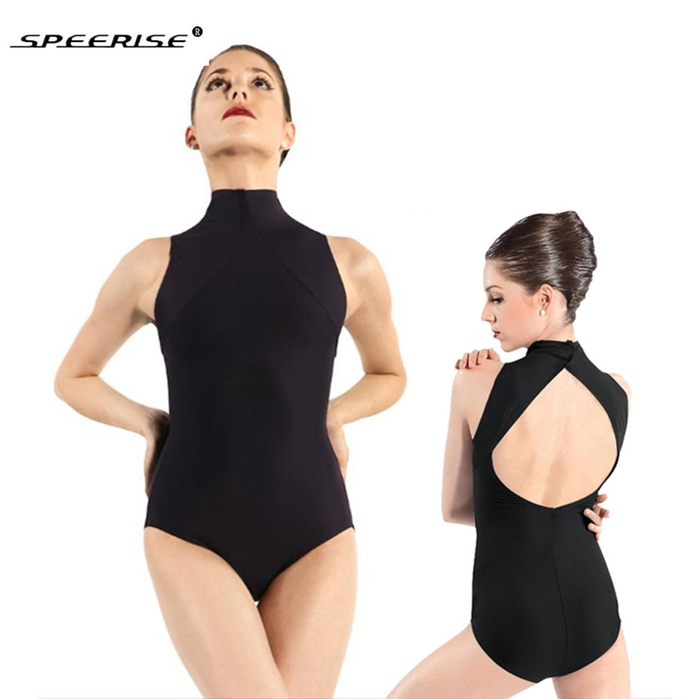 ca70b1414 SPEERISE Womens Performance Leotards Open Back Ballet Dance Leotard Body  para adultos Lycra Spandex Sin mangas Unitards Ropa de escenario
