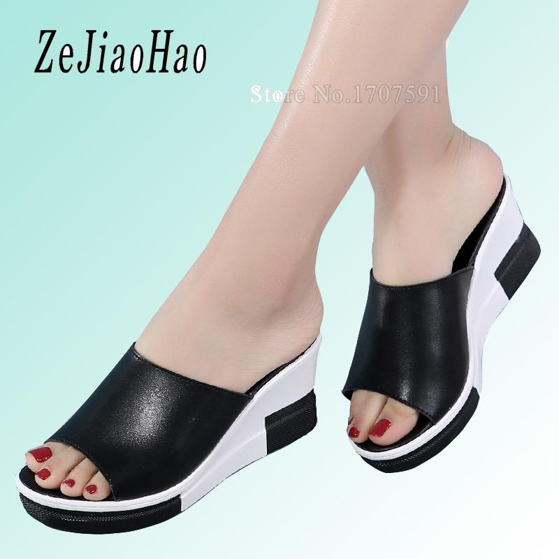 15c1a79a74b3 2017 Summer Woman Shoes Platform Bath Slippers Wedge Beach Flip Flops High  Heel Slippers For Women Brand Ladies Shoes BK1801 Green Shoes Ankle Boots  For ...