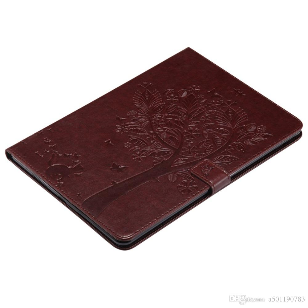 PU Leather Wallet Case For Apple iPad Mini 1/2/3 A1599 A1600 A1601 Cover Cat Tree Embossed Cover Skin Shell+Stylus Pen+Film.