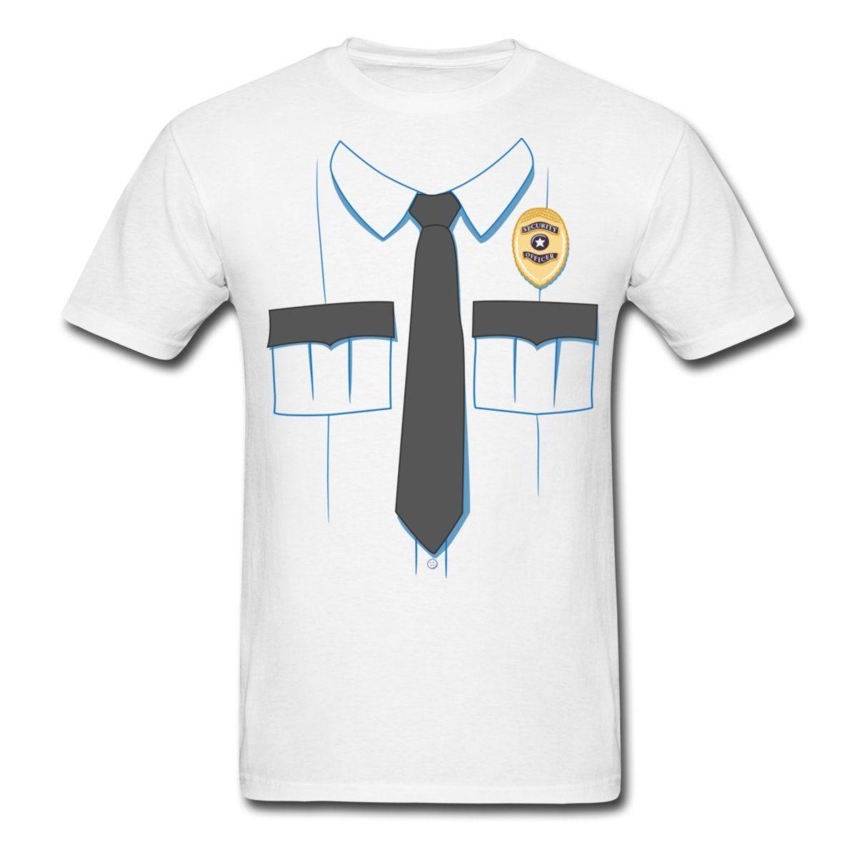 610d88cb Security Guard Uniform Costume Men's T Shirt 100% Cotton Short Sleeve O -  Neck Tops Tee Shirts New Fashion Cool Casual T Shirts