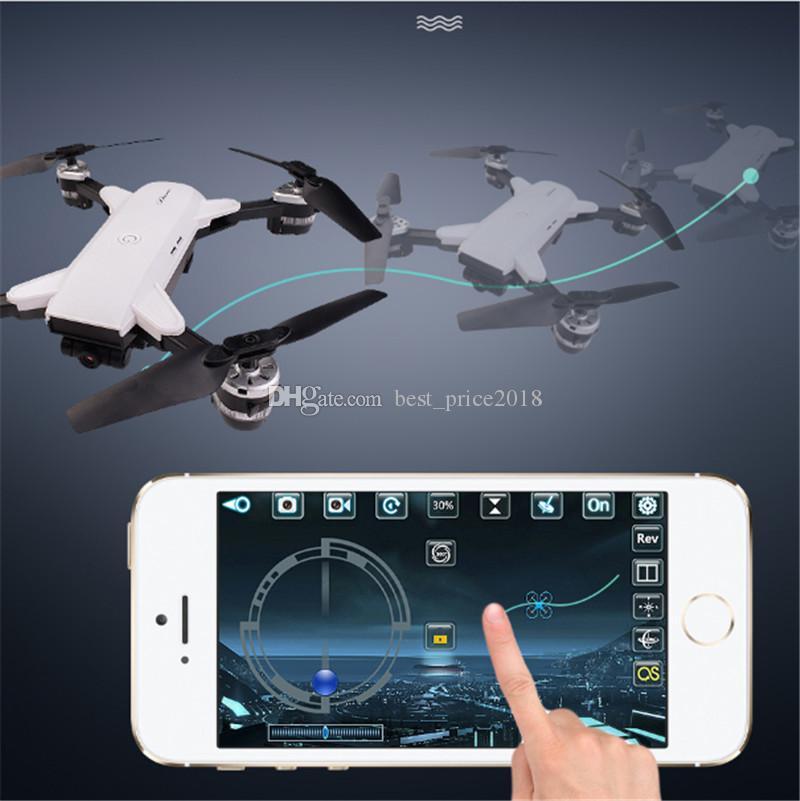 핫 YH - 19HW 미니 접이식 RC 드론 카메라 HD 와이파이 FPV 고도 Quadcopter RC 드론 VS Visuo XS809HW XS809W RC 헬리콥터 무료 잡아라