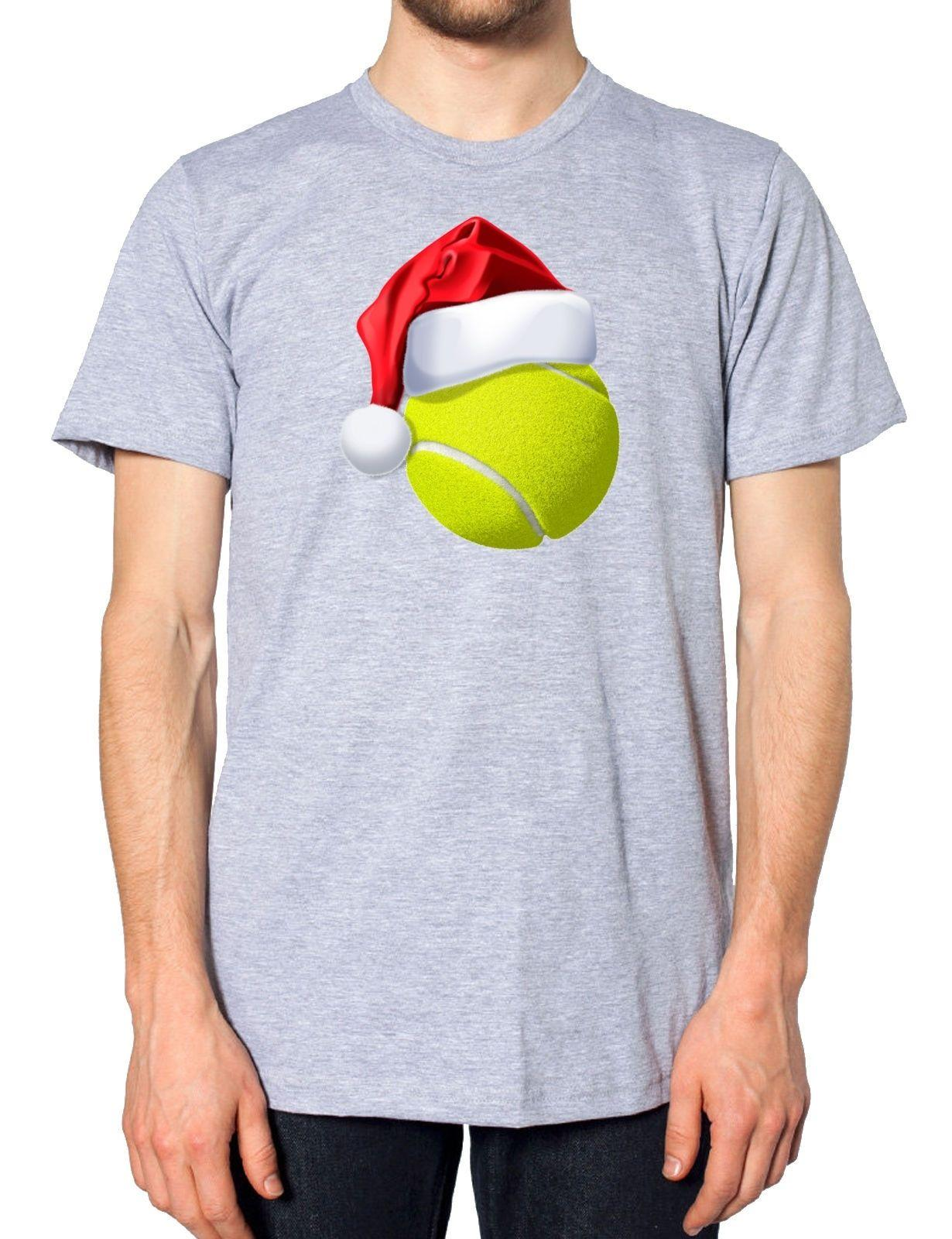 07dace2003c68 Tennis Ball Christmas Santa Hat T Shirt Sportsman Festive Novelty Joke Gift  Cool Casual Pride T Shirt Men Unisex Shirts And Tshirts Tee Shirts Sale  From ...
