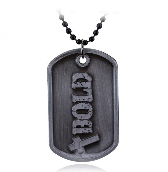 DHL Christian God Necklace Joshua Be Strong And Courageous Bible Verse Scripture Bold Dog Tag Pendant Necklace