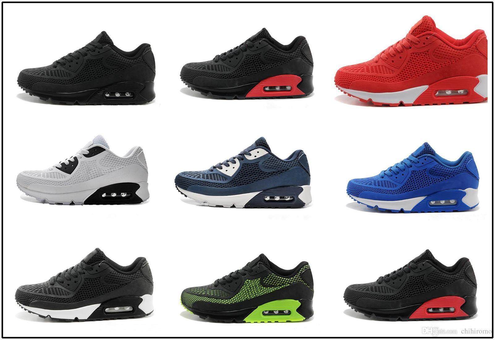 nike air max 90 kpu airmax Nuevo Cushion 90 KPU Hombre Zapatillas deportivas de alta calidad Zapatillas clásicas Baratas 10 colores Calzado deportivo