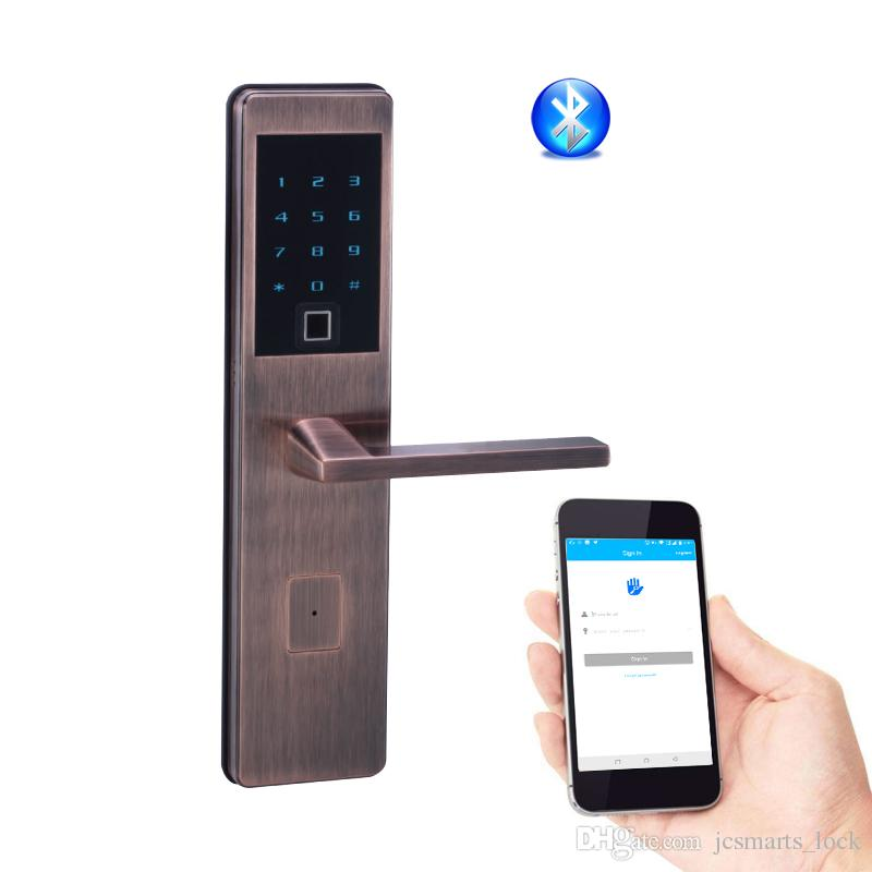 2018 Fingerprint Keyless Entry Home Bluetooth Front Door Lock Wifi