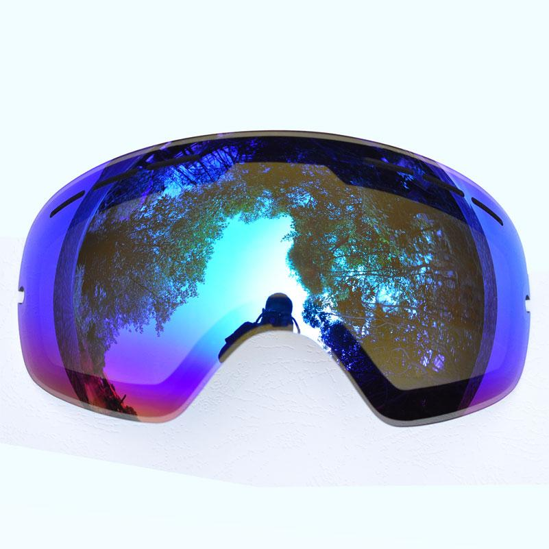 Benice Lens for ski goggles snow-3100 anti-fog UV400 large spherical snowboarding eyewear glasses