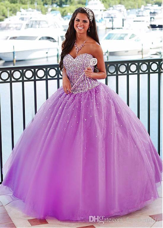 5fa413fb320 Lovely Sweetheart Light Purple Quinceanera Dresses Beaded Lace Up Custom  Made Sweet 16 Dress 2018 Ball Gown Prom Dresses Quinceanera Boutique  Quinceanera ...