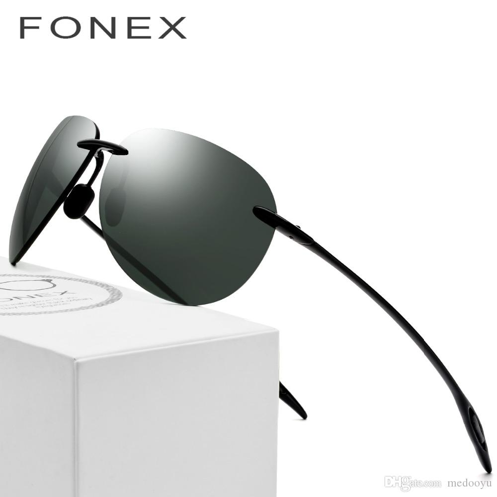 478214612aaf TR90 Ultem Rimless Sunglasses Men Ultralight 2018 Male High Quality Aviador  Mirrored Aviation Sun Glasses For Women Nylon Lens 1606 Electric Sunglasses  ...