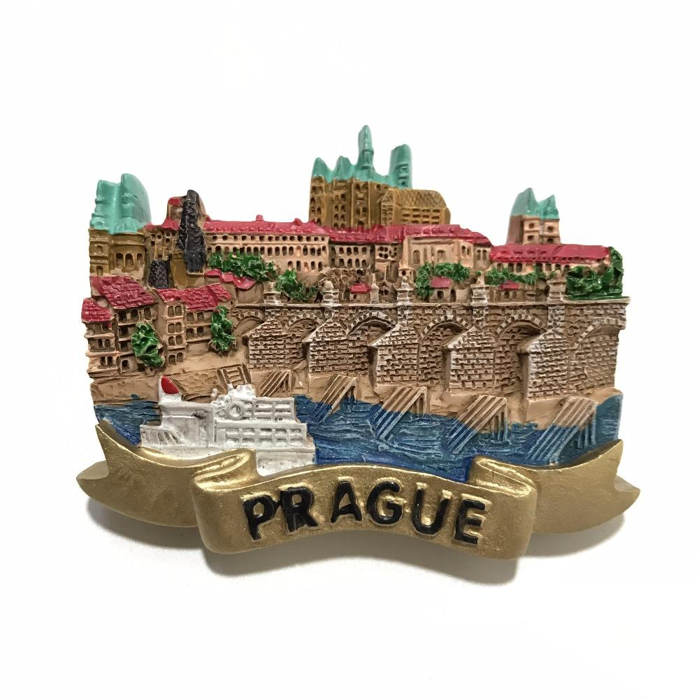 New Arrival Prague, Czech Fridge Magnet 3D Handmade Resin