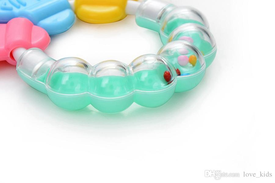 New Baby Teething Teether Ring Circle Teether Balls Toys for Baby Lovely Baby Bell Toy Product Cute Teeth Training