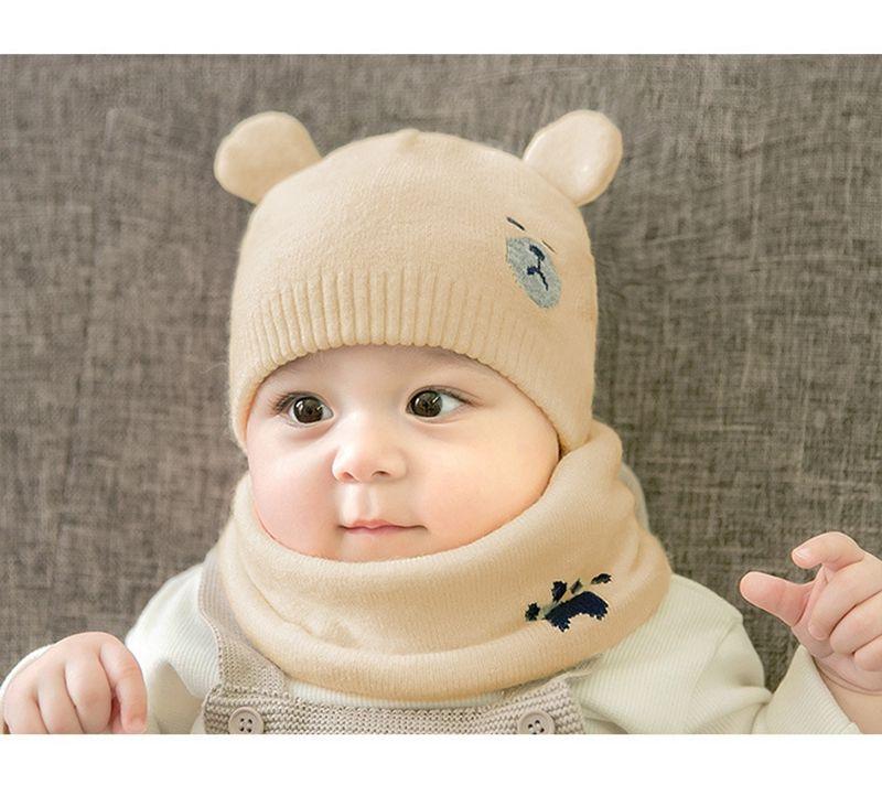 Baby Hats With Scarf Bear Ear Beanies Trendy Beanie Crochet Fashion Beanies  Outdoor Hat Winter Newborn Beanie Scarf+Hats Trilby Mens Hats From  Blacksunday f62eecda08b9