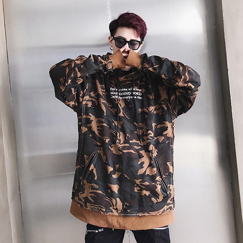 Autumn Men's Fashion Camouflage Hoodies Men's Tyga Swag Sweatshirts Cotton Hoody US Size S-XXL